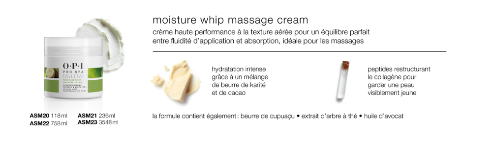 Moisture Whip<br/>Massage Cream
